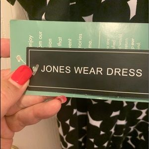 Jones Wear Dresses - NWT Black with white and black poka dot mini